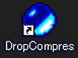 ファイルごとに一括して圧縮するツール – DropCompres