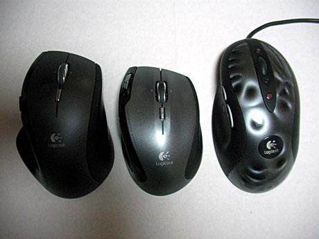 ロジクールのマウス3つ