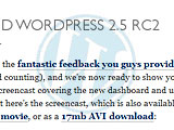 WordPress RC2公開